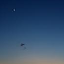 Burg Kreuzenstein with Moon and Mercury,                                nonsens2