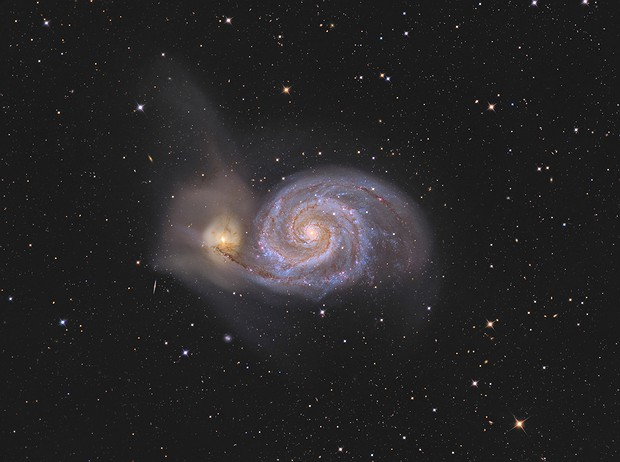 M 51 - The Whirlpool Galaxy with C2PU T 1000,                                Jeffbax Velocicaptor