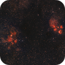NGC 6334 and NGC 6357 - Cat´ s Paw and Lobster Nebula,                                Mateus
