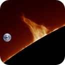 Towering solar prominence, 6/12/2018,                                Patrick Hsieh