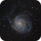 Closeup of Messier 101, The Pinwheel Galaxy,                                Madratter