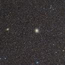 Omega Centauri and Centaurus A - very different neighbor - 85mm,                                Frank