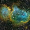 IC1848 Soul Nebula SHO Wide Field Image,                                Ben Koltenbah