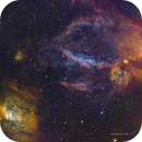 Bubble Nebula (NGC7635) and west surroundings in HSTrgb,                                Jose Carballada