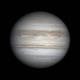 GIF 3.5h Jupiter's rotation (130 images),                                Lucas Magalhães