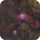 M8 & M20 Lagoon and Trifid Nebulas,                                Chuck Manges