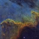 The Wall, ngc 7000 / Hubble palette,                                noodle