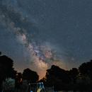 Voie Lactée dans mon jardin ,                                Stéphane GONZALEZ