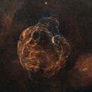 Spaghetti Nebula SH2-240 in Auriga,                                Astrobdlbug