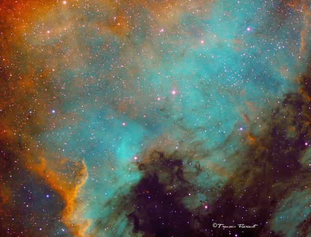 NGC 7000 North America Nebula in Cygnus,                                Francois Theriault