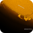 Sun 21.04.2021 07:57 ut H-Alpha,                                Sepp Käser