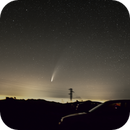 NEOWISE comet over the Light Pollution,                                Enol Matilla