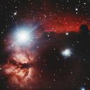 Horsehead and flame nebula NRGB,                                Blue Moon Observa...