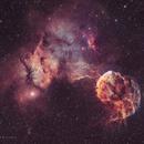 Ic 443& Ic444-la nébuleuse de la méduse HOO,                                astromat89
