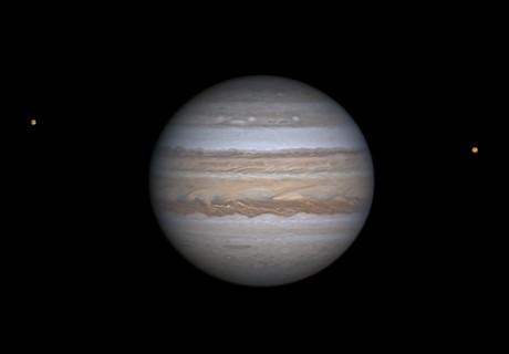 Jupiter with Europa & Io,                                  Niall MacNeill