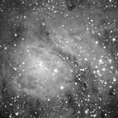 M8 Lagoon Nebula, unguided.,                                Juan Pablo (Observatorio JuPiTeR)