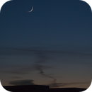 Thin Crescent Moon Setting,                                James Muehlner