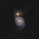 M51 - The Whirlpool Galaxy taken with ASI071MC,                                JohnAdastra