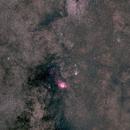 Lagoon & Trifid Nebulae wide field,                                wei-hann-Lee