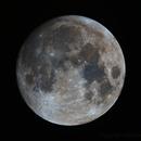 Moon (nearly full) in Narrowband (Bi-colour) 20141105,                                Mike Oates