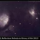 M78, Reflection Nebula in Orion, 6 Feb 2013,                                David Dearden