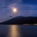 Moon & Jupiter over Lake Resia,                                Markus A. R. Langlotz