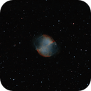 M27 DUMBBELL Testing powermate for deepskyimaging (newton bad collimation),                                Astroneck