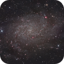 M33 Triangulum Galaxy with H-alpha,                                Ryan Betts
