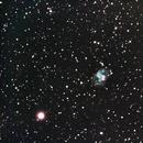 Messier 76 - The Little Dumbbell Nebula - Barbell Nebula - Cork Nebula,                                Chris