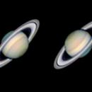 Saturn :  South up / North up,                                MAILLARD