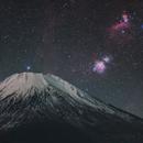 Orion and Mt.Fuji,                                Toshiya Arai