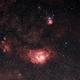 Lagoon and Trifid Nebulae,                                astromiao