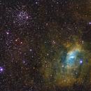 Bubble Nebula : NGC 7635 & Messier 52 in RGB-SHO,                                  Daniel.P