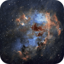 Tadpoles Nebula (IC 410) in SHO,                    Chuck's Astrophot...