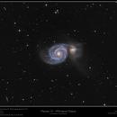 "Messier 51 - Whirlpool Galaxy - Combined 6"" and 8"",                                Frank Schmitz"