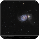 "Messier 51 - Whirlpool Galaxy - Combined 6"" and 8"",                    Frank Schmitz"