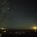 Milky Way, Jupiter, and Waxing Crescent Moon from the Big Island of Hawaii - My Parting Shot...,                                JDJ
