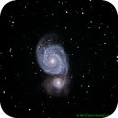 M51 and NGC5195, the  Whirlpool interacting galaxies in Canes Venatici,                                Mataratzis