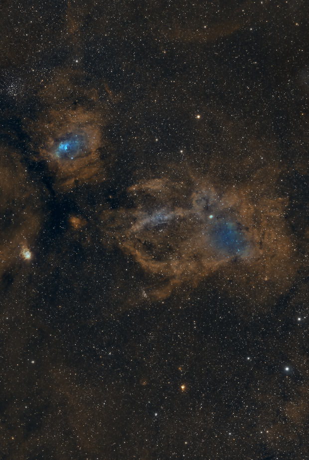 Bubble and Lobster Claw nebula,                                Sendhil Chinnasamy