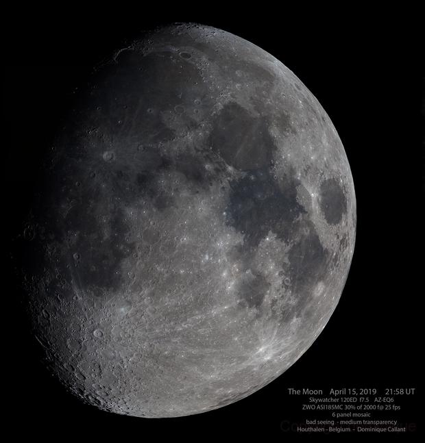 The Moon in colors,                                Dominique Callant
