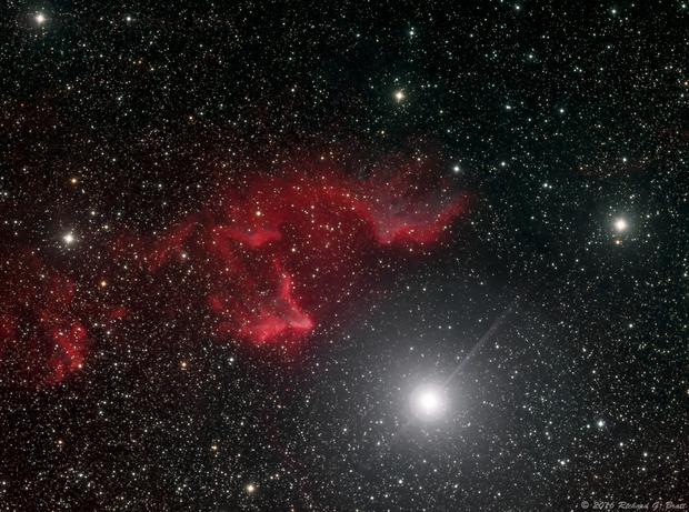 IC63 (SH2-185) Gamma Cassiopeiae Nebula HSRGB,                                Richard Bratt