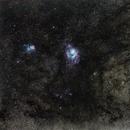 Lagoon and Trifid Nebula - M8 M20,                                Mateus