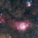 Lagoon and Trifid Nebula (M8 & M20) - 22 MP Mosaik,                                  Thomas Klemmer