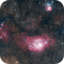 Lagoon and Trifid Nebula (M8 & M20) - 22 MP Mosaik,                                Thomas Klemmer