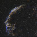 Eastern Veil Nebula in SHO-LRGB,                                equinoxx