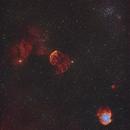 IC443, NGC2174, M35, NGC2158, HoCr-1, IC444, Sh2-247,                                Rolf Dietrich