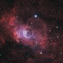 Bubble Nebula,  HaOIIIRGB,                                  1074j