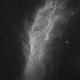 California Nebula NGC1499 2-Panel-Mosaic H-Alpha,                                Mario Gromke