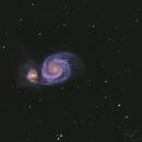 Messier 51 Whirlpool galaxy,                    kenthelleland