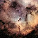 IC 1396 (Elephant Trunk) narrowband,                                HaSeSky
